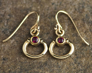 3320-Earrings with Fire Rubies