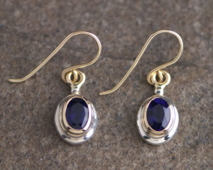 3360-SG Oval Dangle Earrings