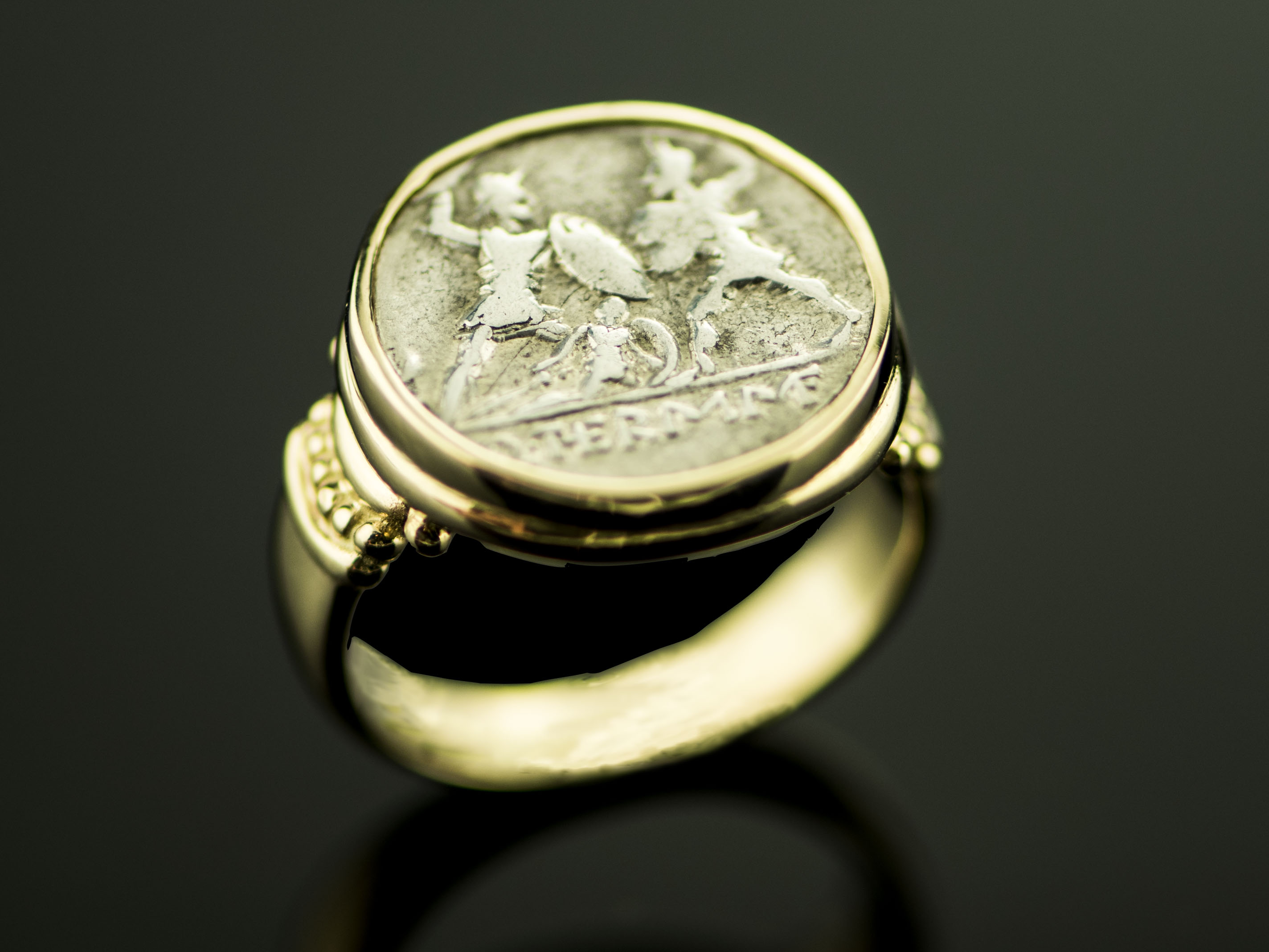 Italian Irish Mens Coin Ring-01