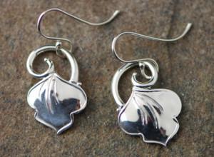 Silver Drop Earrings No Stone-01